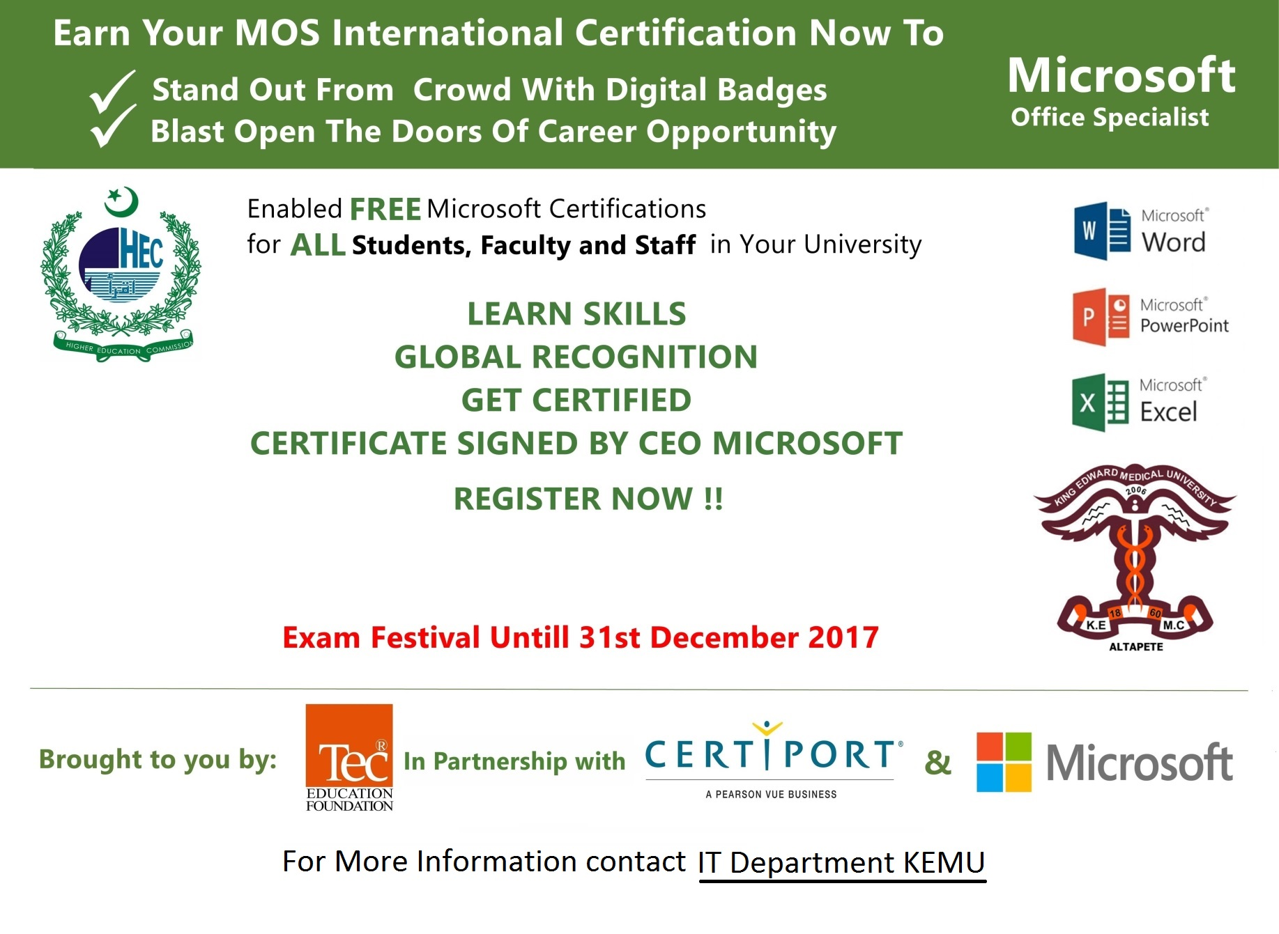 Free microsoft office specialist mos certifications for all free microsoft office specialist mos certifications for all students faculty and staff 1betcityfo Gallery