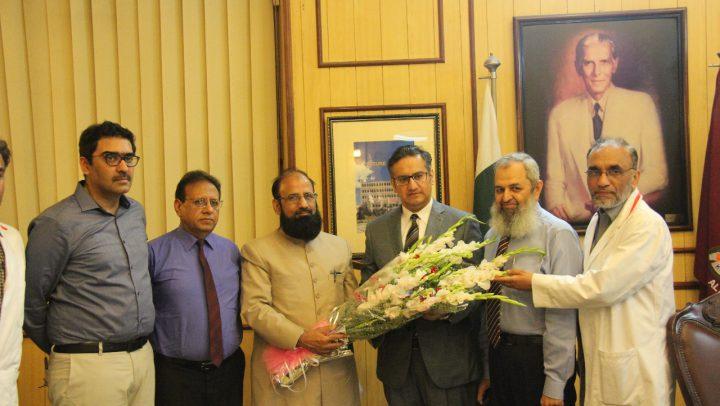 Visit of SHC&ME – Mr. Saqib Zafar to KEMU/MHL (July 11 ,2018)